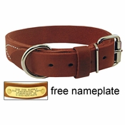 shop 1 1/4 in. Gun Dog Deluxe Leather Standard Dog Collar - #RTEN114