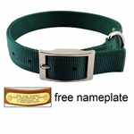"shop 1"" Double-Ply Nylon Standard Dog Collar - #115N"