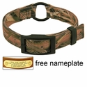 Mossy Oak Blades Camo 2-ply Nylon Center Ring Dog Collar