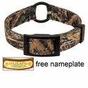 Realtree Max 5 Camo 2-ply Nylon Center Ring Dog Collar