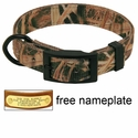 Mossy Oak Blades Camo 2-ply Nylon D-End Dog Collar