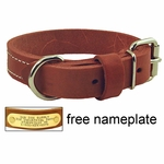 shop 1 in. Gun Dog Deluxe Leather Standard Dog Collar