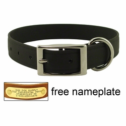 CLEARANCE -- 1 in. K-9 Komfort EverFlex Standard Dog Collar with Stainless Steel Hardware