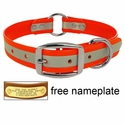 K-9 Komfort 1 in. Reflective Center Ring Dog Collar