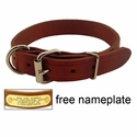 buy discount  1 in. Leather Dee-End Dog Collar