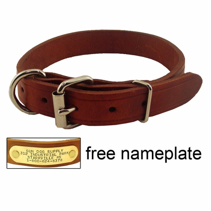 1 in. Leather Dee-End Dog Collar