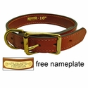 1 in. Mendota Hunt Dog Leather D-Ring Dog Collar