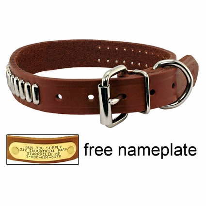 1 in OmniPet Bully Leather Studded Collar