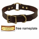 "buy discount  1"" Leather Center Ring Dog Collar by Filson -- BROWN"