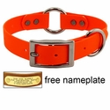"buy discount  1"" Orange Granite Center-Ring Dog Collar -- Stainless Steel Hardware"