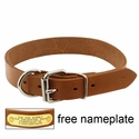 buy discount  1in. Leather D-End Dog Collar