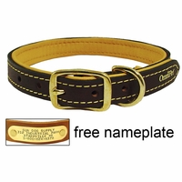 buy discount  3/4 in. Deer Tan Latigo Leather Dog Collar by OmniPet