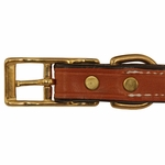 shop 3/4 in. K-9 Komfort Deluxe Leather Center Ring Puppy/Small Breed Collar Buckle Inside Detail