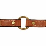 shop 3/4 in. K-9 Komfort Deluxe Leather Center Ring Puppy/Small Breed Collar Inside of Collar Detail