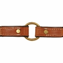 buy discount  3/4 in. K-9 Komfort Deluxe Leather Center Ring Puppy/Small Breed Collar Inside of Collar Detail