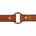 buy discount  3/4 in. K-9 Komfort Deluxe Leather Center Ring Puppy/Small Breed Collar Outside of Ring Detail