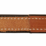 shop 3/4 in. K-9 Komfort Deluxe Leather Center Ring Puppy/Small Breed Collar Stitching Detail