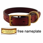 shop 3/4 in. K-9 Komfort Deluxe Leather Standard Puppy / Small Breed Dog Collar