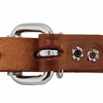 shop 3/4 in. Leather Center Ring Puppy/Small Collar Back of Buckle Detail