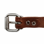 shop 3/4 in. Leather Center Ring Puppy/Small Collar Buckle Inside Detail