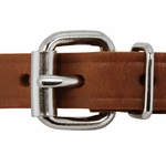 shop 3/4 in. Leather Center Ring Puppy/Small Collar Front of Buckle Detail
