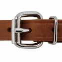 buy discount  3/4 in. Leather Center Ring Puppy/Small Collar Front of Buckle Detail