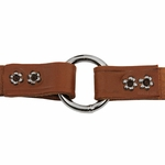 shop 3/4 in. Leather Center Ring Puppy/Small Collar Inside Ring Detail