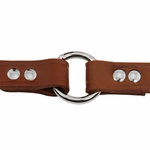 shop 3/4 in. Leather Center Ring Puppy/Small Collar Outside of Ring Detail