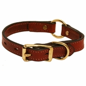 shop  3/4 in. Mendota Hunt Dog Leather Center Ring Puppy / Small Breed Collar -- 10/12 in.