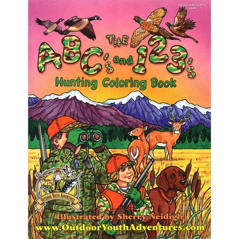 ABC's and 123's Hunting Coloring Book
