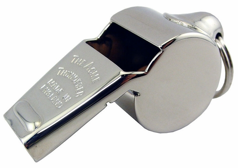 Acme Thunderer Metal Whistle #60 1/2 Nickel Plated Brass