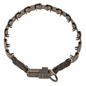 buy discount  MATTE GRAY 24 in. Herm Sprenger Stainless Steel Neck-Tech Nylon Pinch Collar #50157-24