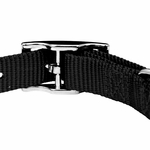 shop Black Nylon Dog Collar Back of Buckle Detail