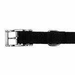 shop Black Nylon Dog Collar Buckle Inside Detail