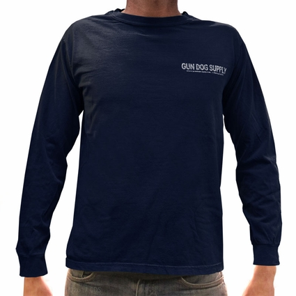 "BLUE Gun Dog Supply Pocket Logo + ""Roxy"" Long Sleeve T-Shirt"