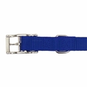 buy discount  Blue Nylon Dog Collar Buckle Inside Detail