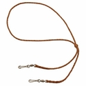 buy discount  Braided Kangaroo Leather Lanyard -- Double Snap