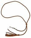 Braided Kangaroo Leather Lanyard -- Single Snap