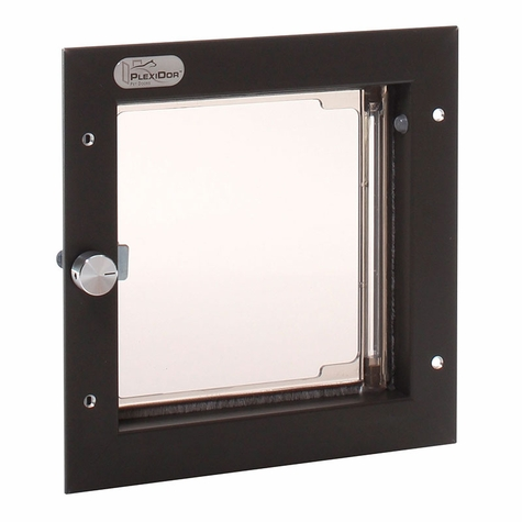 BRONZE Small Plexidor Wall Mount Dog Door