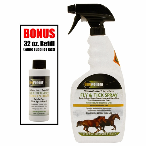 Bugpellent Fly and Tick Spray -- 32 oz.