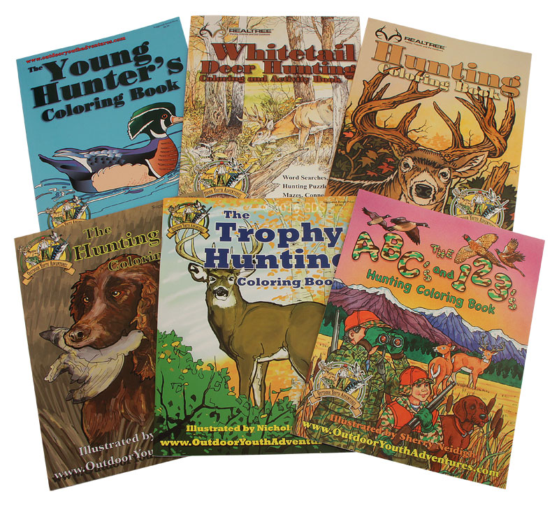 buy all 6 outdoor youth adventures coloring books - Where To Buy Coloring Books