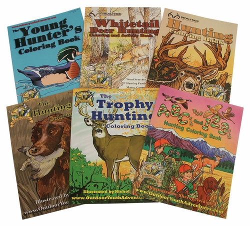 Buy All 6 Outdoor Youth Adventures Coloring Books 3999