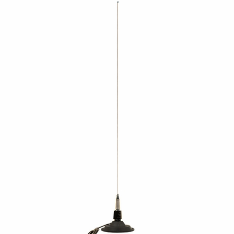 "Super 6"" Base MagMount with Spring Whip Long Range Antenna"