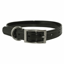 buy discount  CLEARANCE -- BLACK 3/4 in. K-9 Komfort TransFlex 2-Groove Standard Puppy / Small Dog Collar