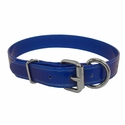buy discount  CLEARANCE -- BLUE 1 in. K-9 Komfort TransFlex 2-Groove D-end Dog Collar