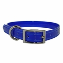 buy discount  CLEARANCE -- BLUE 3/4 in. K-9 Komfort TransFlex 2-Groove Standard Puppy / Small Dog Collar