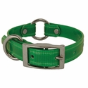 buy discount  CLEARANCE -- GREEN 3/4 in. K-9 Komfort TransFlex 2-Groove Center Ring Puppy / Small Dog Collar -- 12 inch