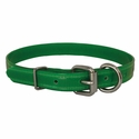 buy discount  CLEARANCE -- GREEN 3/4 in. K-9 Komfort TransFlex 2-Groove D-End Puppy / Small Dog Collar