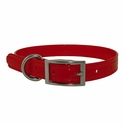 buy discount  CLEARANCE -- RED 3/4 in. K-9 Komfort TransFlex 2-Groove Standard Puppy / Small Dog Collar