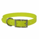 buy discount  CLEARANCE -- YELLOW 3/4 in. K-9 Komfort TransFlex 2-Groove Standard Puppy / Small Dog Collar
